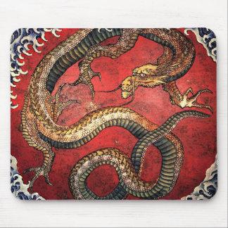 Cojín de ratón del dragón de Hokusai Alfombrilla De Ratones