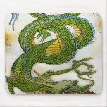 Cojín de ratón del dragón verde tapete de raton