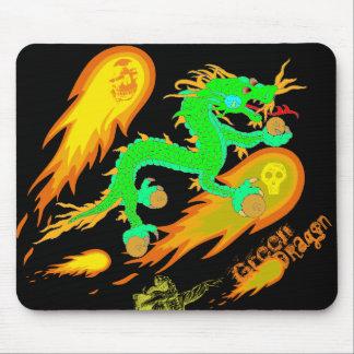 Cojín de ratón del dragón verde (Ver. 2,0) Alfombrilla De Ratón