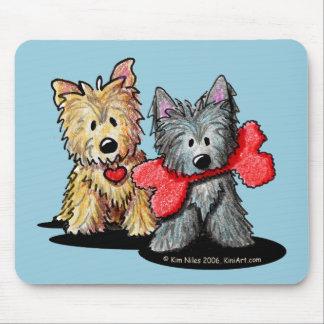 Cojín de ratón del dúo de Terrier de mojón Alfombrilla De Raton