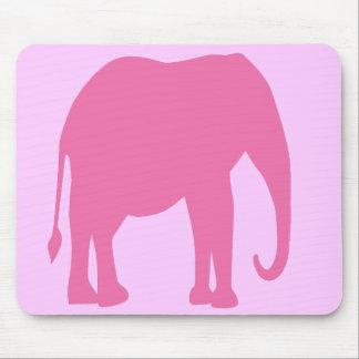 Cojín de ratón del elefante rosado tapete de ratones