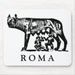 Cojín de ratón del Ella-Lobo de ROMA Alfombrillas De Ratón