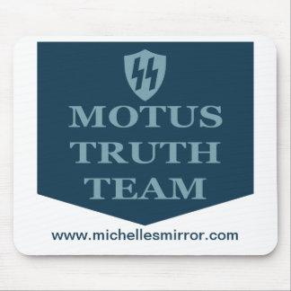 Cojín de ratón del equipo de la verdad de MOTUS Tapetes De Raton