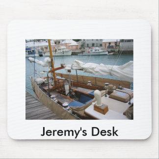 Cojín de ratón del escritorio de Jeremy Alfombrillas De Ratón