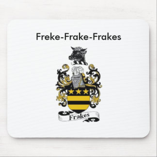 Cojín de ratón del escudo de armas de Frakes Alfombrillas De Ratones