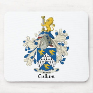 Cojín de ratón del escudo de la familia de Cullum Tapete De Raton