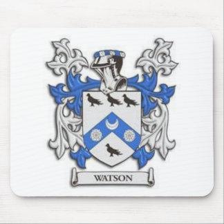 Cojín de ratón del escudo de la familia de Watson Mousepads