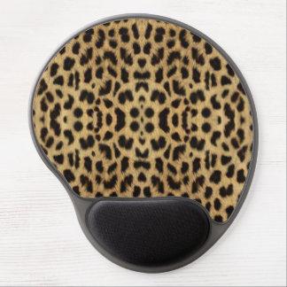 Cojín de ratón del estampado leopardo alfombrilla gel