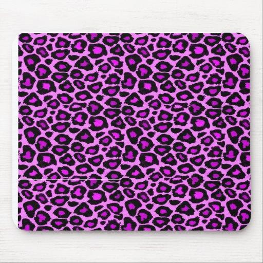 cojín de ratón del estampado leopardo del fushsia tapetes de raton