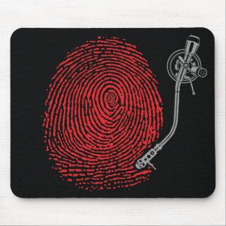 Cojín de ratón del expediente del thumbprint de Em Alfombrilla De Ratones
