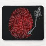 Cojín de ratón del expediente del thumbprint de Em Alfombrilla De Raton