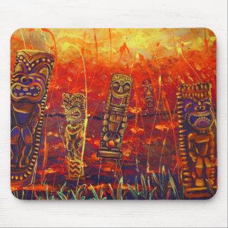 Cojín de ratón del fiesta de la lava de Tiki Alfombrilla De Ratones
