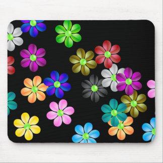 Cojín de ratón del flower power tapetes de ratón