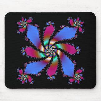 Cojín de ratón del fractal de la rueda de color tapetes de ratón