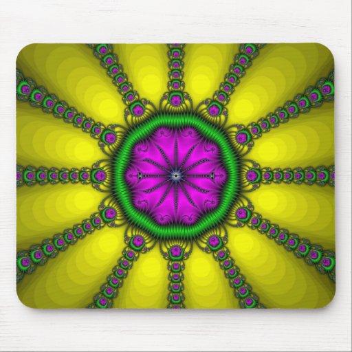 Cojín de ratón del fractal del acerico tapetes de raton