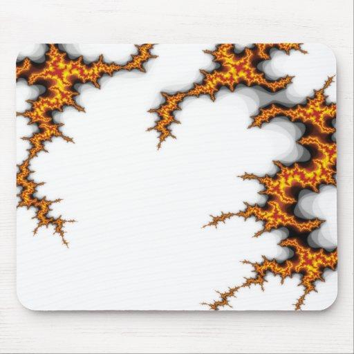 cojín de ratón del fractal del fuego alfombrillas de ratón