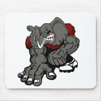 Cojín de ratón del fútbol del elefante alfombrillas de raton