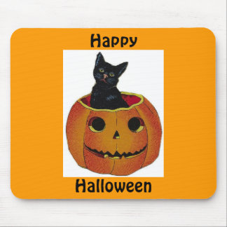 Cojín de ratón del gatito de Halloween Alfombrilla De Ratón