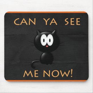 ¡Cojín de ratón del gato de Halloween Alfombrillas De Ratón