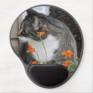 Cojín de ratón del gato de Tabby Alfombrillas De Ratón Con Gel