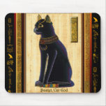 Cojín de ratón del gato egipcio de BASTET Tapetes De Ratón