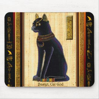 Cojín de ratón del gato egipcio de BASTET Tapetes De Ratones