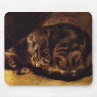 Cojín de ratón del gato el dormir de Renoir Alfombrilla De Raton