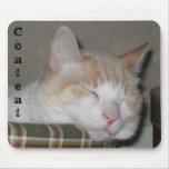 """Cojín de ratón del gato el dormir del """"contenido"""" tapetes de raton"""