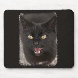 Cojín de ratón del gato negro alfombrillas de ratones