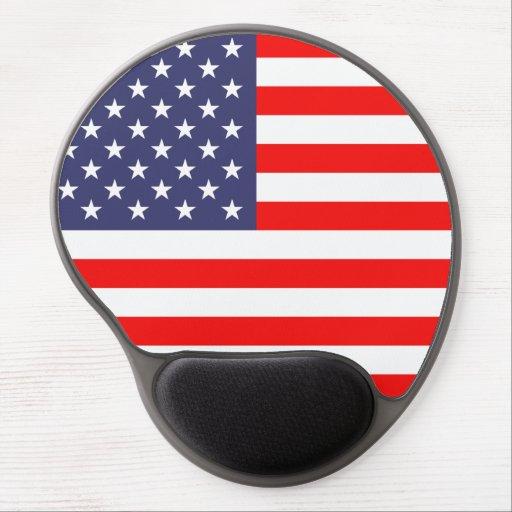 Cojín de ratón del gel de la bandera americana alfombrillas con gel
