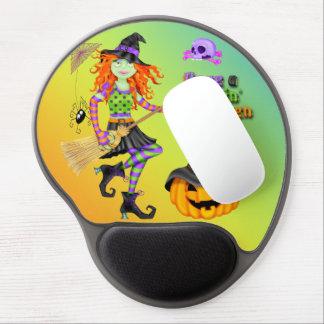 Cojín de ratón del gel de la bruja de Halloween Ro Alfombrilla De Raton Con Gel