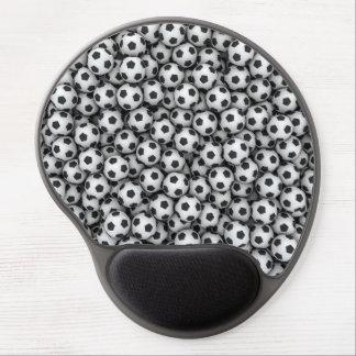 Cojín de ratón del gel de los balones de fútbol alfombrilla de ratón con gel