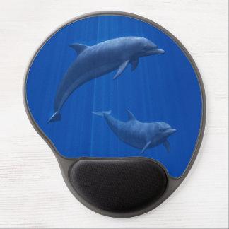 Cojín de ratón del gel de los pares del delfín alfombrillas de ratón con gel