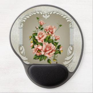 Cojín de ratón del gel de los rosas del Victorian Alfombrilla Gel