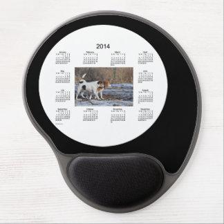 Cojín de ratón del gel del calendario del perro de alfombrilla de ratón con gel