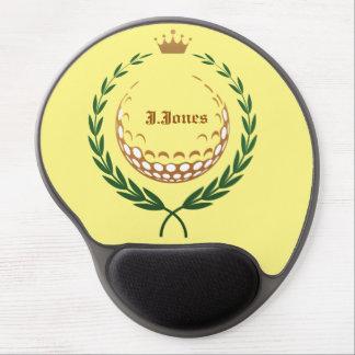 cojín de ratón del gel del emblema del golf alfombrillas de raton con gel