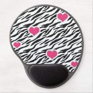 Cojín de ratón del gel del modelo de los corazones alfombrilla gel
