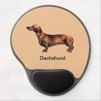 Cojín de ratón del gel del perro del Dachshund Alfombrillas De Ratón Con Gel