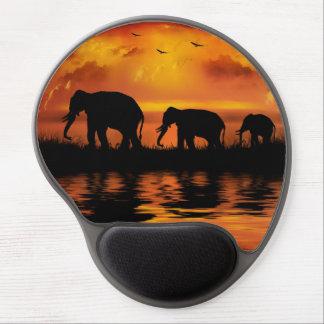 Cojín de ratón del gel del safari del elefante alfombrilla gel