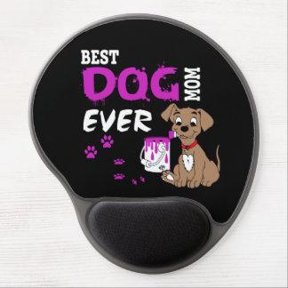 Cojín de ratón del gel - la mejor mamá del perro alfombrilla de raton con gel