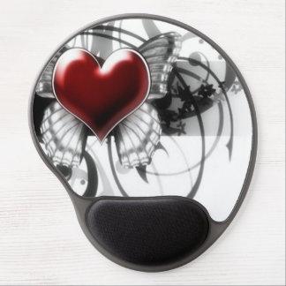 Cojín de ratón del gel/mariposa y corazón alfombrillas con gel