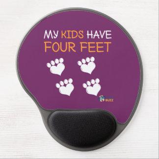 Cojín de ratón del gel - mis niños tienen cuatro alfombrilla con gel