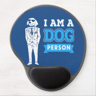 Cojín de ratón del gel - soy una persona del perro alfombrillas de ratón con gel