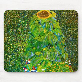 Cojín de ratón del girasol de Gustavo Klimt Alfombrilla De Ratón