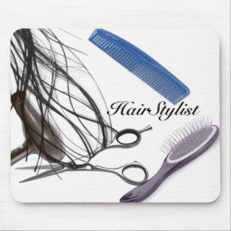 cojín de ratón del hairstylist tapetes de raton