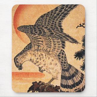 Cojín de ratón del halcón de Kuniyoshi Alfombrillas De Raton