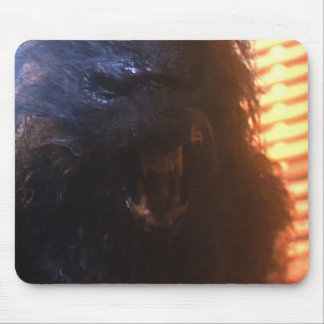 cojín de ratón del hombre lobo que grita tapetes de ratones