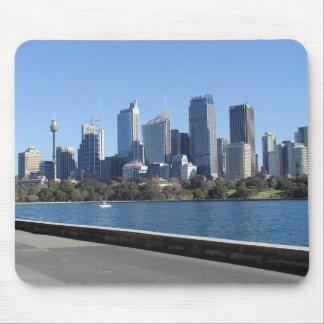 Cojín de ratón del horizonte de Sydney Alfombrillas De Ratón