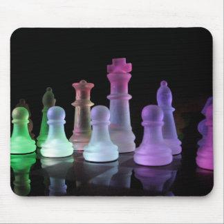Cojín de ratón del juego de ajedrez del arco iris alfombrilla de ratón