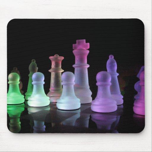 Cojín de ratón del juego de ajedrez del arco iris tapetes de ratón